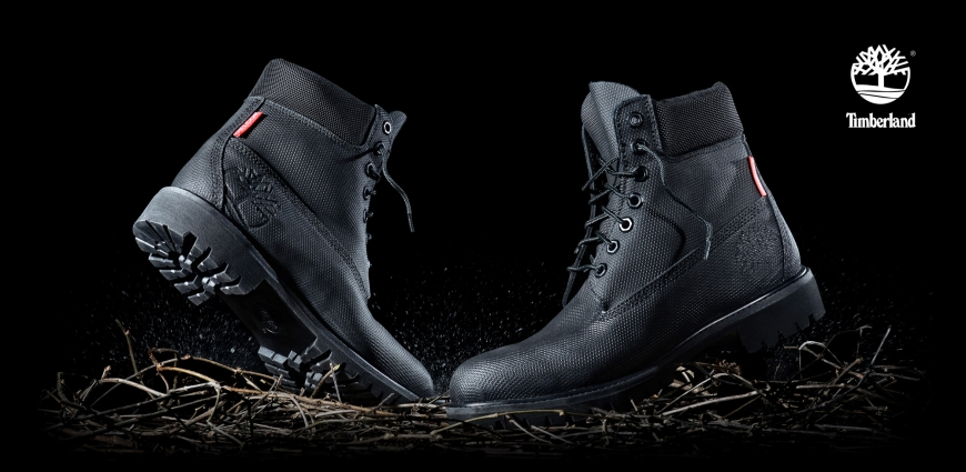 Timberland boots advertising photography by UniQ Studios