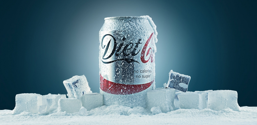 Coke Snow Ice Advertising Photography