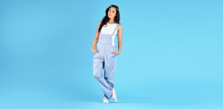 Blue Dungaree Lookbook Photography
